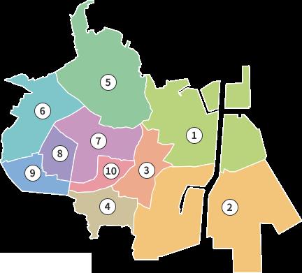商店街のマップ
