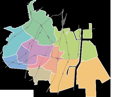 町名のマップ