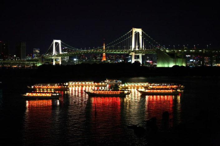 屋形船夜景の画像