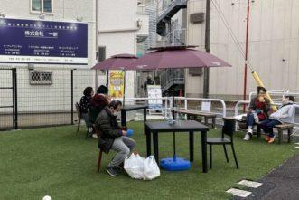 戸越公園駅前南口商店会「ほのぼの広場」開設